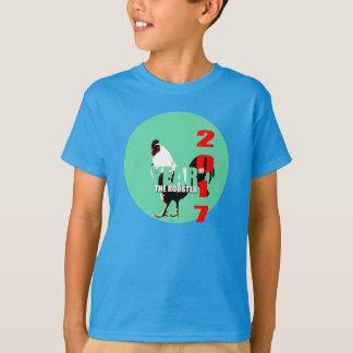Camisa verde dos miúdos do círculo do ano 2017 do