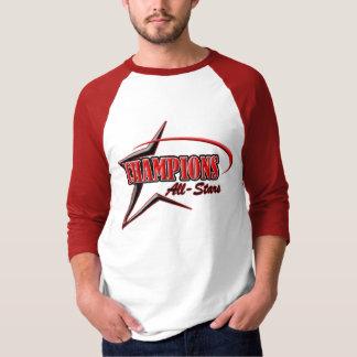 Camisa vermelha & branca da competição