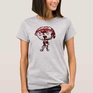 Camisa vermelha cinzenta do ZLB das mulheres (a