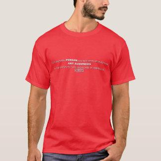 Camisa vermelha da banda