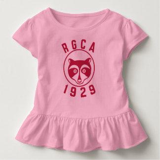 Camisa vermelha da criança do logotipo de RGCA
