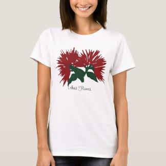 Camisa vermelha da flor de Lehua