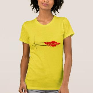 Camisa vermelha da pena camisetas