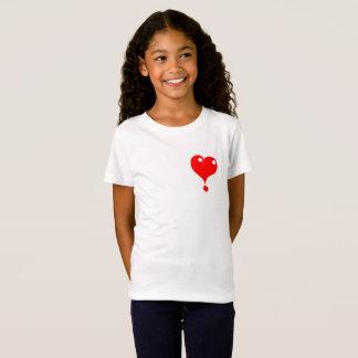 camisa vermelha do coração t