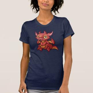 Camisa vermelha do dragão de Chibi