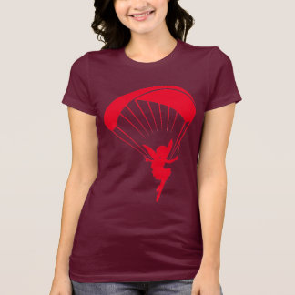 Camisa vermelha do duende T do parapente