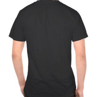 Camisa vermelha dos funcionarios da etiqueta tshirts