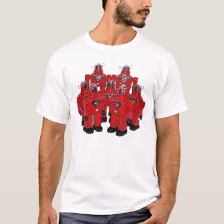 Camisa vermelha dos robôs