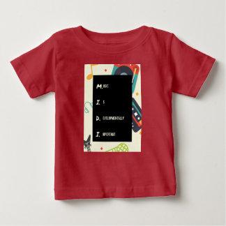 Camisa vermelha engraçada do bebê de Midi para