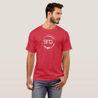 Camisa vermelho escuro da geração de Sci FI