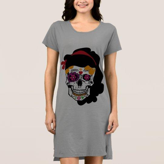 camisa vestido- caveira mexicana