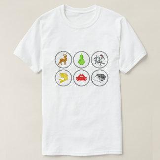 Camisa vietnamiana do jogo dos dados do caranguejo