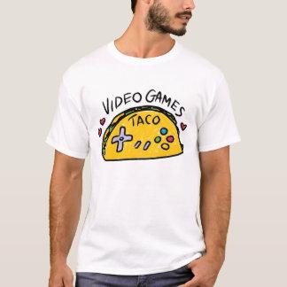 Camisa viril do logotipo do Taco do homem do homem