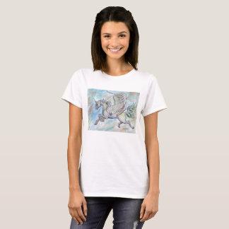 Camisa voada do unicórnio T