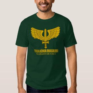 Camisas brasileiras do emblema da força aérea camisetas