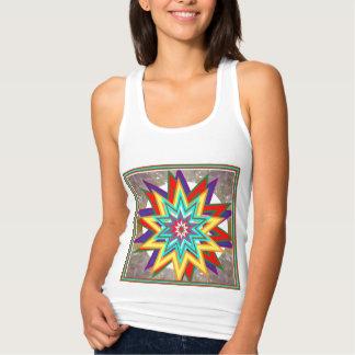 Camisas coloridas da estrela da venda pelo artista camisetas