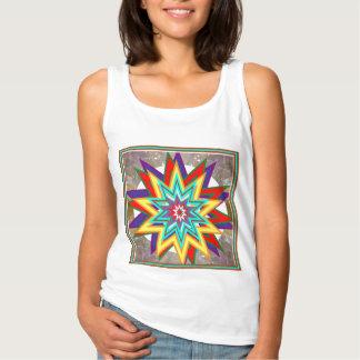 Camisas coloridas da estrela da venda pelo artista regata basic