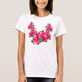 Camisas cor-de-rosa dos leus do hibiscus