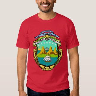 Camisas da brasão de Costa Rica Camiseta