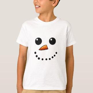Camisas da cara do boneco de neve