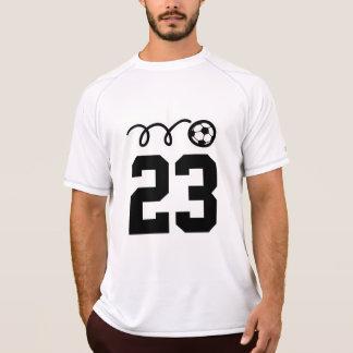 Camisas da equipe de futebol com número feito sob
