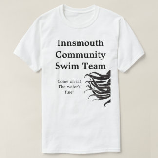 Camisas da equipe de natação da comunidade de