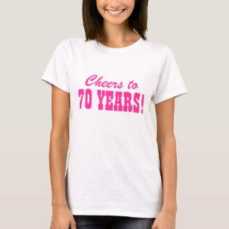camisas da festa de aniversário t do 70 para