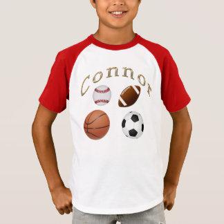 Camisas de esportes para miúdos para Connor ou
