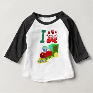 Camisas diminutas do trem t do bebê