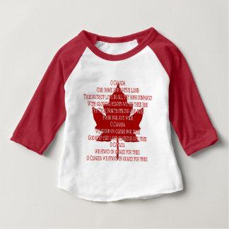 Camisas do bebê da lembrança de Canadá do jérsei Camisetas