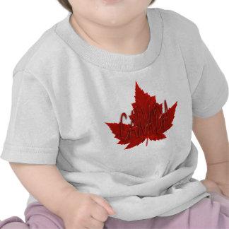 Camisas do bebê da lembrança de Canadá do t-shirt