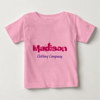 Camisas do bebê de Madison Nome Roupa Empresa