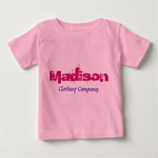 Camisas do bebê de Madison Nome Roupa Empresa T-shirt