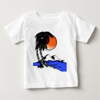 Camisas do bebê T do paraíso da ilha