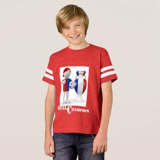 Camisas do futebol T dos miúdos