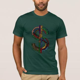 Camisas do sinal de dólar