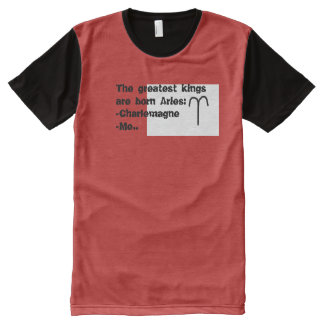 Camisas do sinal T do zodíaco: Aries