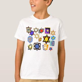 Camisas do T das crianças judaicas de Channukka
