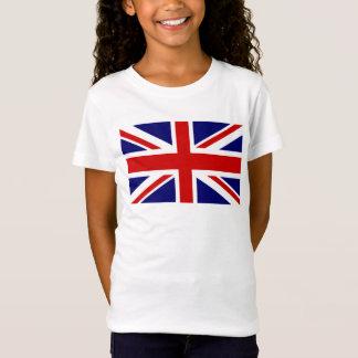 Camisas do T do miúdo com a bandeira britânica de