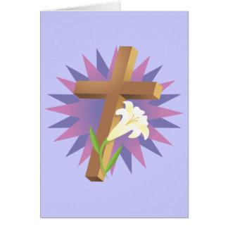Camisas e presentes religiosos da páscoa T Cartão Comemorativo