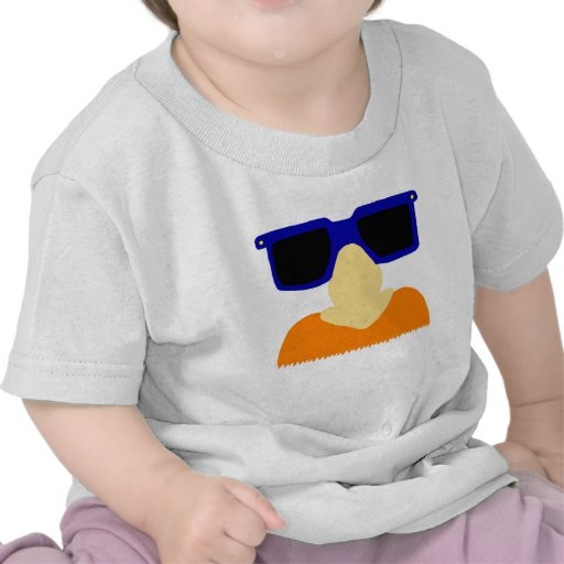 Camisas em incógnito do bigode & dos vidros camisetas