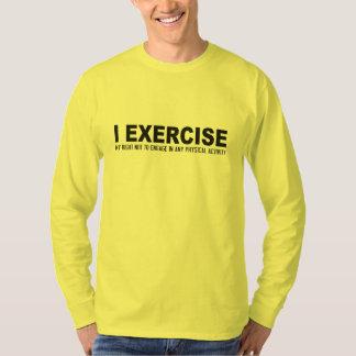 Camisas & jaquetas engraçadas do exercício