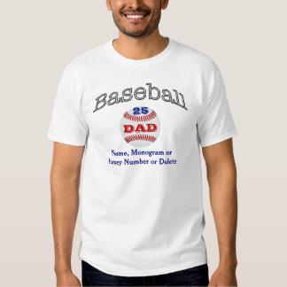 Camisas, pai e filho personalizados do basebol do t-shirts