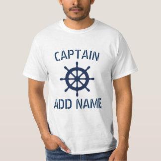 Camisas personalizadas da roda t do navio do nome