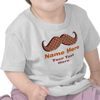 Camisas personalizadas do bigode para o bebê tshirt