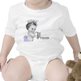 Camisas roxas adoráveis da princesa bebé t-shirt