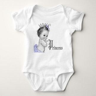 Camisas roxas adoráveis da princesa bebé camisetas