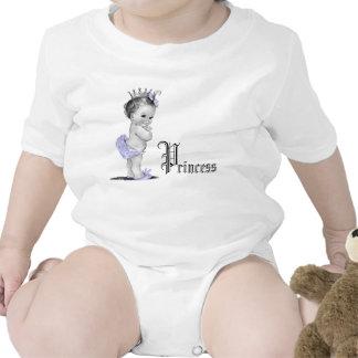 Camisas roxas adoráveis da princesa bebé babador