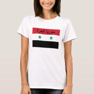 Camiseta سورياالحرة livre da bandeira de Syria - Syria