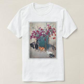 Camiseta ひよこ, cravo-da-índia & pintinhos, Hiroshi Yoshida,
